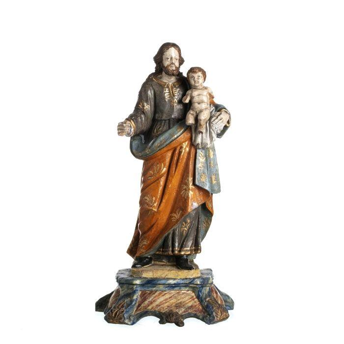 Figura São José Com Menino Jesus Guimarães - imagem 1