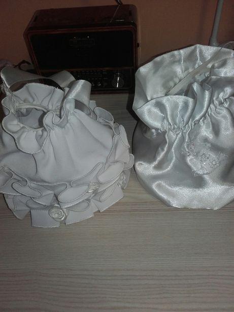 Biała Torebka woreczek komunia dla dzieczynki torebka komunijna