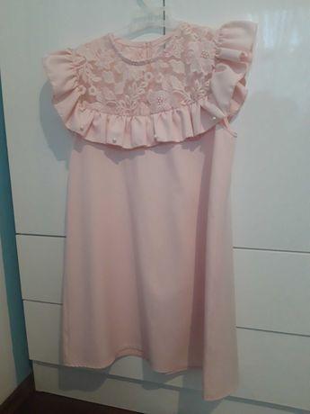 Sukienka kiz mała mi święta 152 cm róż