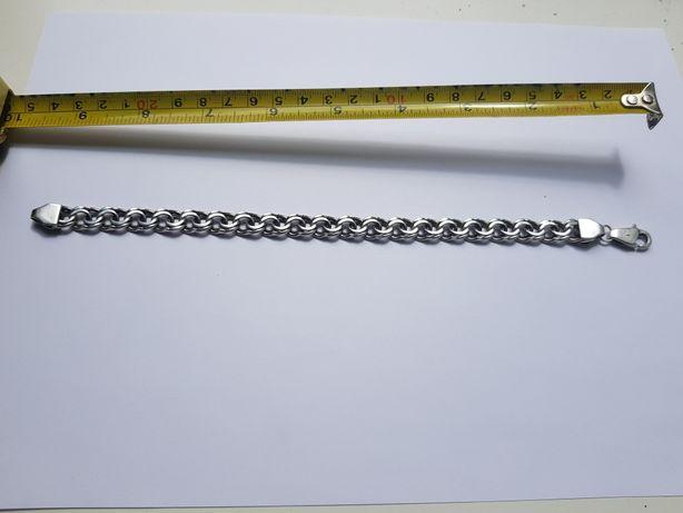 Массивный браслет мужской (серебро)