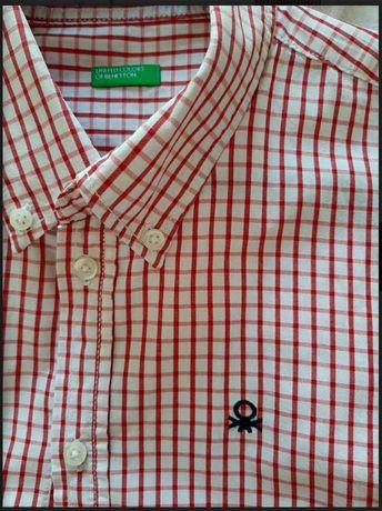 Camisa de menino da Benetton - Oferta de portes