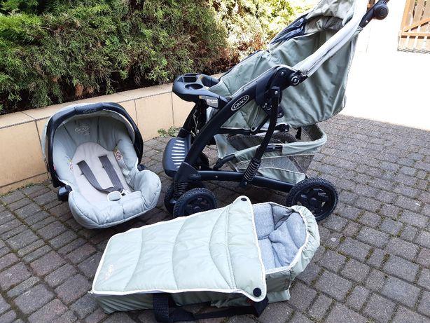 Wózek dziecięcy nosidełko Graco 3w1, w idealnym stanie