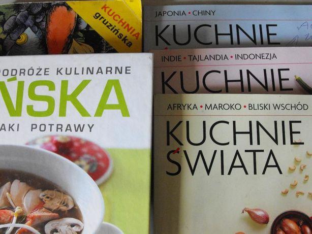 """książki kulinarne szt 5 """"kuchnie świata""""-Okazja"""