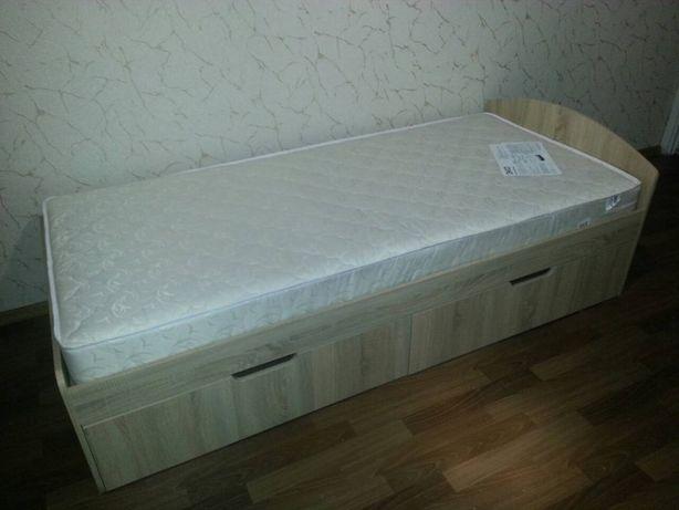 Фабричная Кровать 90+2 (Односпальная) с Ящиками! Цвет на Выбор!