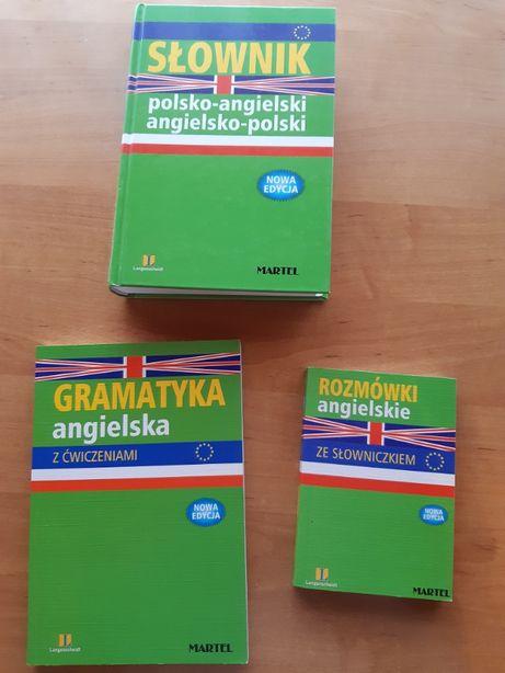 Słownik polsko-angielski, angielsko-polski,gramatyka +rozmówki