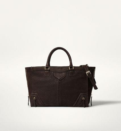 Skórzana torebka Massimo Dutti