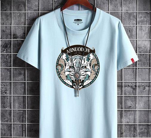 Классная футболка мужская с принтом - новая
