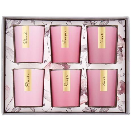 Świece zapachowe zestaw podarunkowy 6 sztuk na Dzień Kobiet