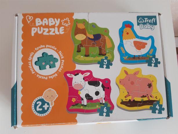 Puzzle baby Zwierzęta na wsi 2+