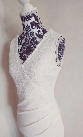 Sukienka ślubna bankietowa XS/S