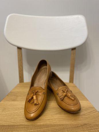Лоферы кожаные туфли италия