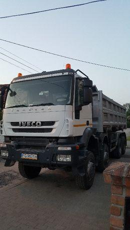 Usługi transportowe wywrotka 8x8, 8x6,6x4.