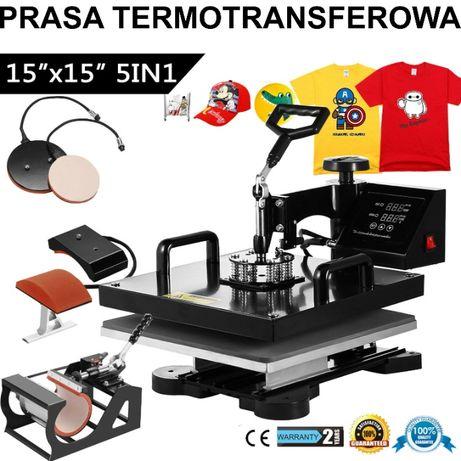 Nowa Prasa termotransferowa 5W1 Sublimacja 38x38cm