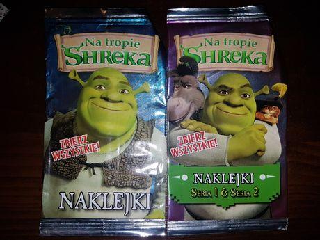 Panini Shrek NAKLEJKI 147 szt Seria 1 i 2 do albumu Na tropie Shreka