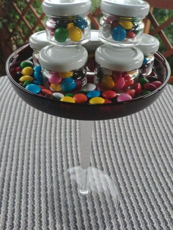 Słoiczki z cukierkami Ślub Komunia Chrzciny Podziękowania dla Gości