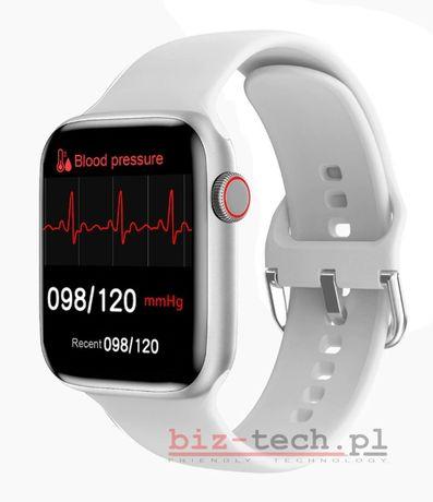 Smartwatch medyczny IWO W46 temperatura saturacja tętno ciśnienie NOWY