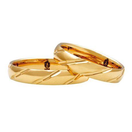 obrączki złote 4mm 5mm złote nacinane zdobione diamentowane 333 8K