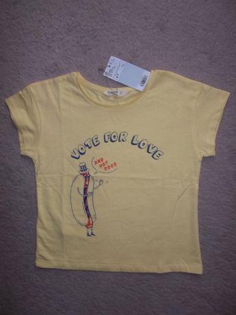 Новая солнечная футболка Mango 6-7 лет для мальчика, девочки