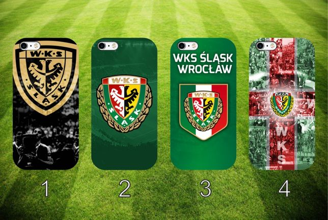 Śląsk Wrocław nadrukowane etui do telefonu różne modele różne wzory