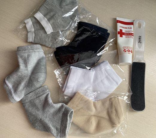 Носочки для сухих пяток, силиконовая пропитка
