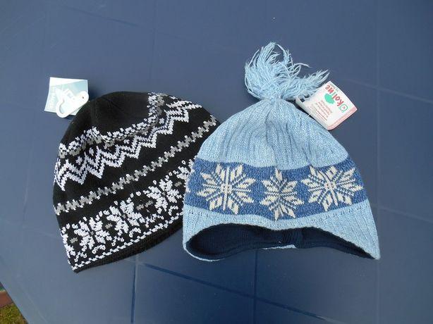 NOWE czapki 110-134 niemieckie na 5-9 lat dla dziewczynki