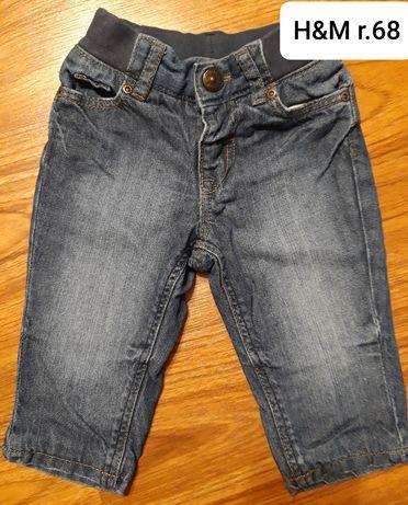Spodnie jeansy r.68