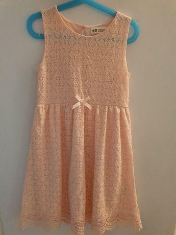 Sukienka koronkowa h&m 134/140