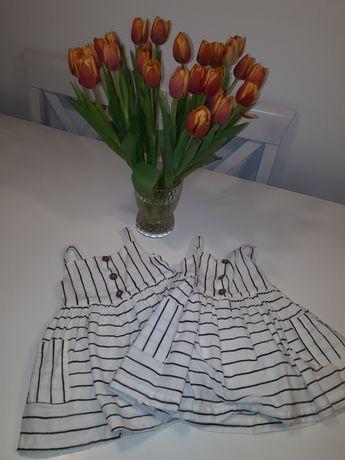 Sukieneczki dla bliźniaczek 9-12 FF 80