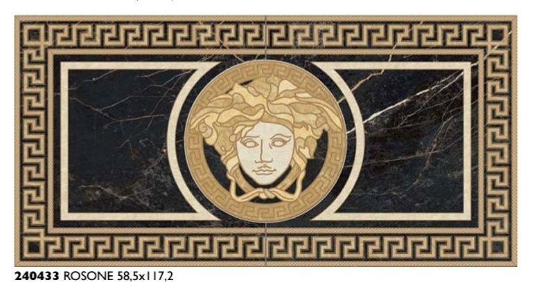 Dekor Versace 58.5x117.2 Rossone Nero Saint Lauren Poskwitów - image 1