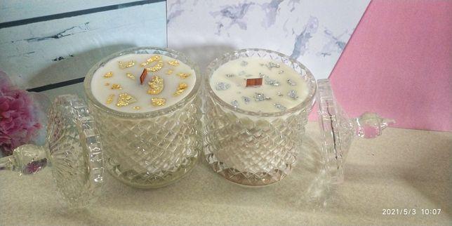 Świeczki sojowe handmade dekoracyjne glamour