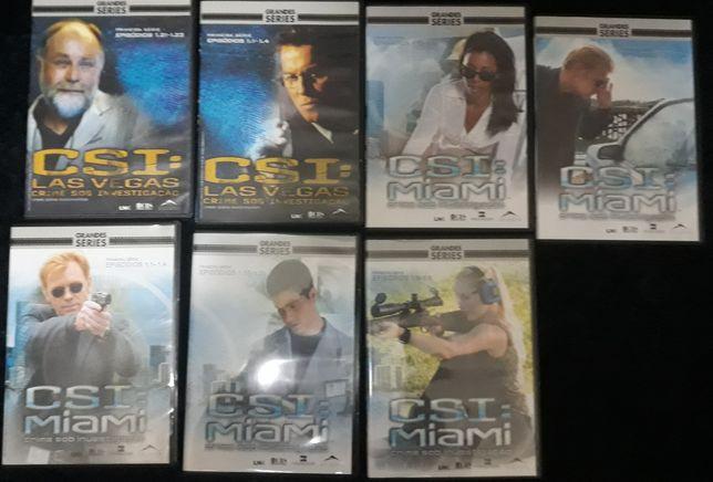 Coleção DVD CSI Miami e Las Vegas