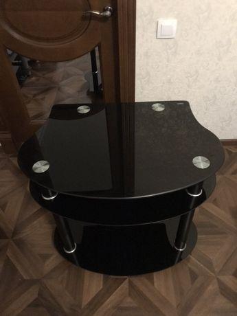 Компактный Стеклянный Стол Стеклянная Тумба
