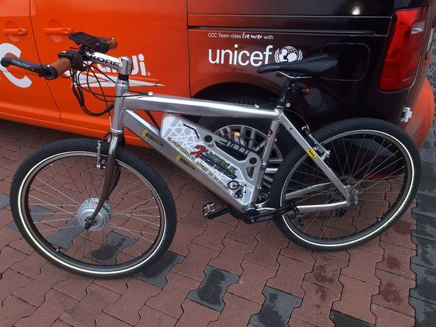 Rower elektryczny mocny i szybki z manetką i tempomatem do 40km/h.