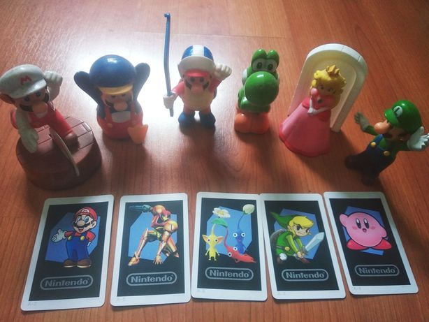 Bonecos pokemon e super mario novos cartas Nintendo