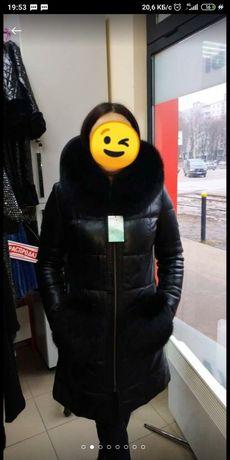 Кожаное пальто, пуховик