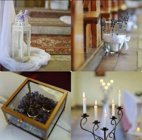 Lawenda dekoracje ślubne