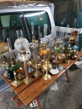 Lampy naftowe ,zegary starocie