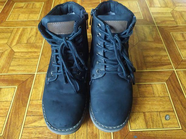 Ботинки черные ,зимние на мальчика