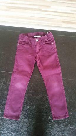 spodnie H&M, 104 cm, ciemny fiolet, stan b.dobry