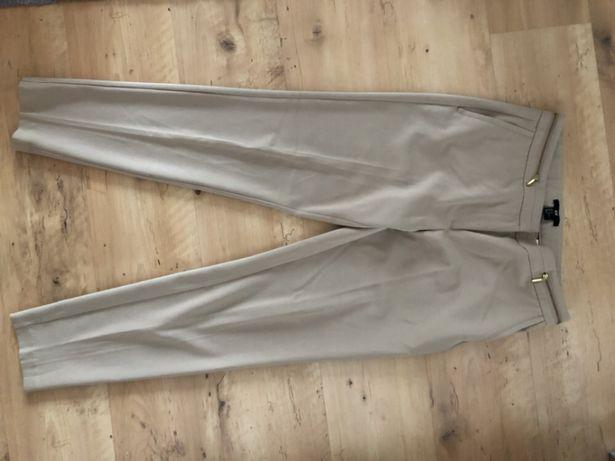 Beżowe spodnie eleganckie H&M 38