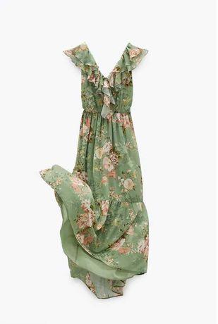 Vestido midi estampado floral Tam.S da Zara NOVO (com etiqueta)