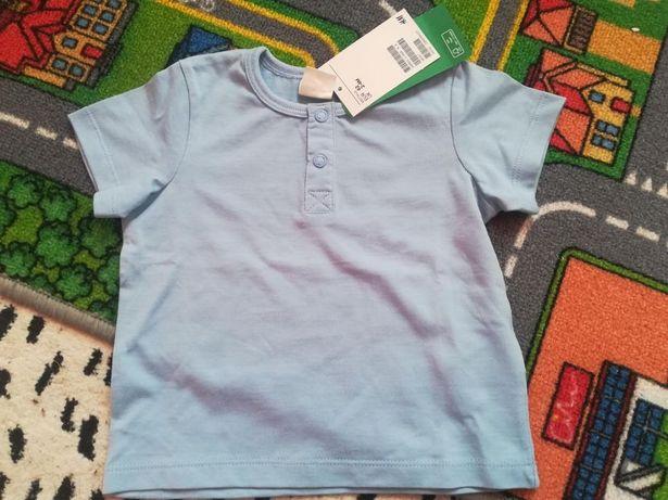 Nowa z metką koszulka H&M r.62(2-4m) koszulka t-shirt niebieska