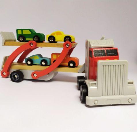 Грузовик перевозчик Автовоз с 4 машинками. Игровой набор для мальчика