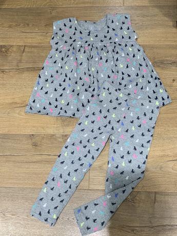 Gap zestaw dziewczęcy tunika legginsy 110/116 cm