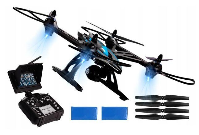 Nowy Dron OVERMAX X Bee Drone 7.2 FPV Ekran Kamera HD Quadrocopter FV
