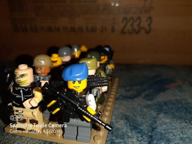 Лего военные фигурки 18шт, цена за штуку