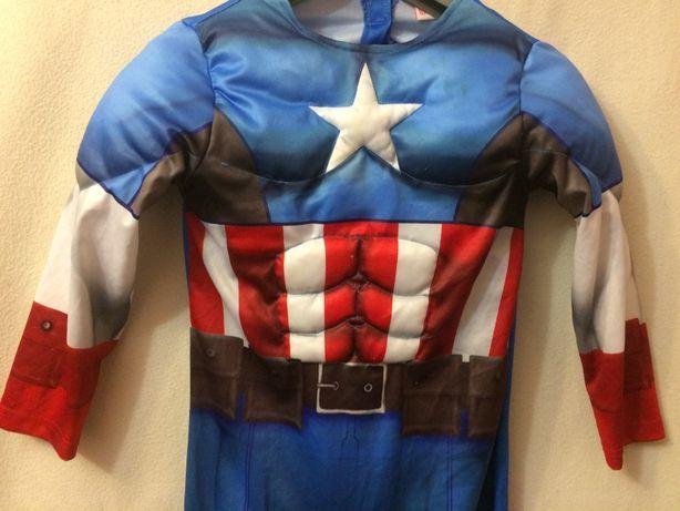 Маскарадний костюм Супергерой Marvel капітан Америка 6-7 р