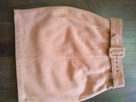 Юбка-карандаш, шерсть пудрового цвета р.36 Miss Sielfridge