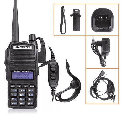 Radiotelefon POLICJA,STRAŻ BAOFENG UV82 5W Skaner Rozblokowany Nasłuc