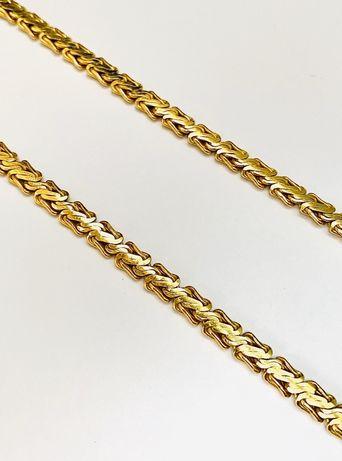 Złoty łańcuszek kolia